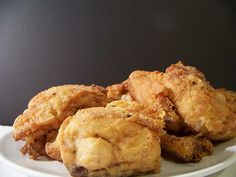 Gluten-free fried chicken (rice flour). REALLY good.