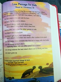 Perfect for Vday devotional with family! 1 Corinthians 13 for kids.