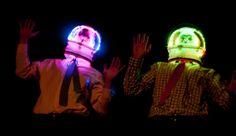 LED Helmets from Sci-Fi Comedy Play Moby Alpha led helmet