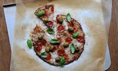 Cauliflower-Walnut Pizza Crust