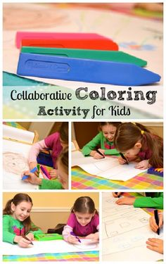 Collaboration art project (perfect for siblings or play dates)