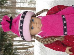 sew, doll clothes, girl doll, patterns, free pattern, christmas presents, girl ski, fleece hats, american girls