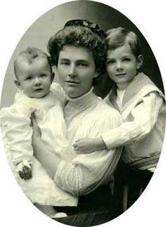 Lou Hoover,  Herbert Jr., and Allan Hoover.