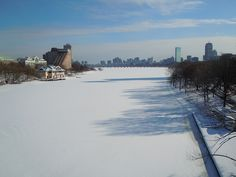 a frozen Charles River