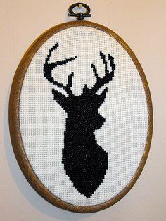 Free Stag cross stitch pattern