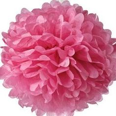 Tissue Paper Pom Poms - Dark Pink from The TomKat Studio Shop www.shoptomkat.com