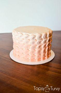 ombre petal smash cake by imtopsyturvy.com #topsyturvycakes