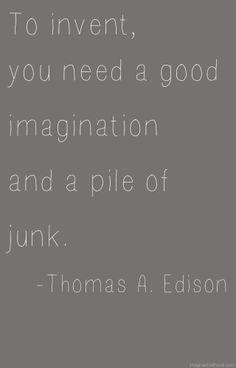 Thomas A. Edison Quote via Imagine Childhood