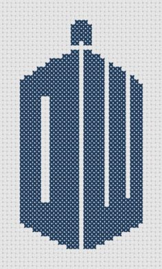 Doctor Who Logo Symbol Cross Stitch PDF Pattern - Immediate Download from Etsy - Tardis Shape DW with Fez