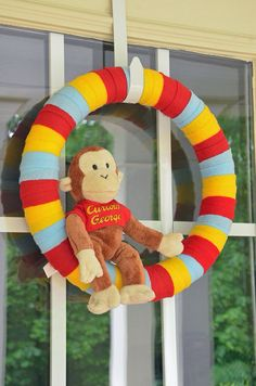 Hey, I found this really awesome Etsy listing at http://www.etsy.com/listing/152164879/curious-george-wreath