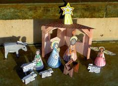Homemade nativity set - Template for all pieces included on website