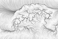 Landscape generated via processing.
