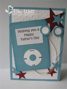 punch card card idea, birthday card, ipod, boy cards, teen birthday, punch card, journal cards