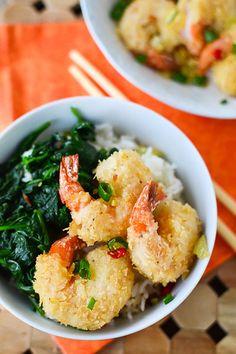 Chili-Garlic Panko Fried Shrimp. #food #seafood #shrimp #dinner