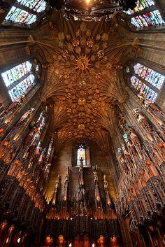 Thistle Chapel Ceiling, St. Giles, High Kirk in Edinburgh, Scotland