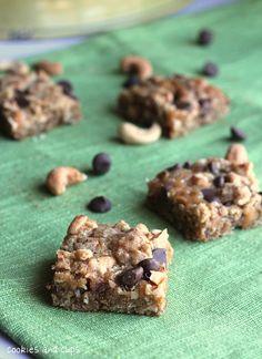 saltly caramel oat bars