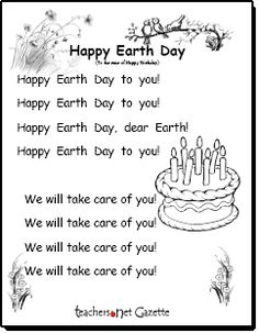 Earth Day song - Happy Earth Day to You!