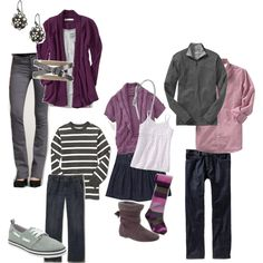 What to wear. Love the purple and grey