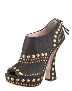 Monday, August 27th: Miu Miu Studded Leather Bootie, 212 872 8947