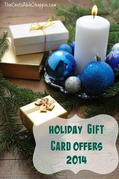 Bonus Holiday Gift Card Offers 2014