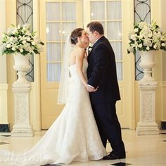 Tara & Tyler in Dearborn, MI--First kiss as husband and wife in Lovett Hall at The Henry Ford
