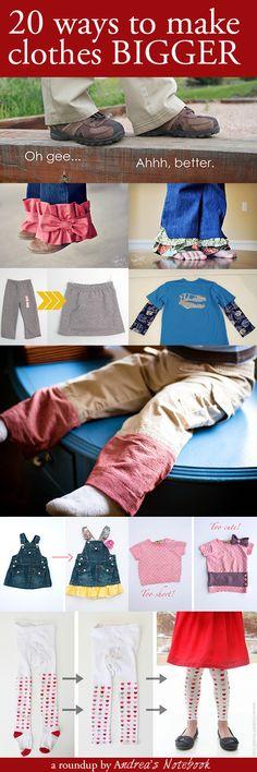 20 ways to make clothes last another season! Pants, dresses, jackets, shirts and more! jacket, kids clothes, season, shirt