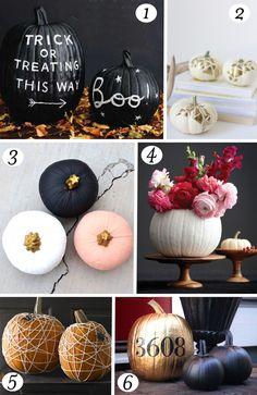 6 No Carve Pumpkin Ideas // Le Partie Sugar