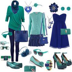 fashion, teal, summer colours, polyvore, summer colors, untitl 227, summer color combos, blues