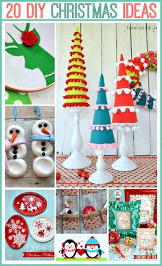 20 ADORABLE Handmade Christmas Projects at the36thavenue.com… So very pretty!