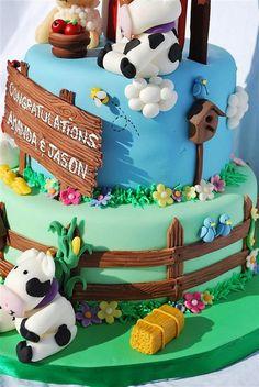 Farm Cake farm cakelov, parti cake, cake amaz, decor cake, birthday cake, farm parti