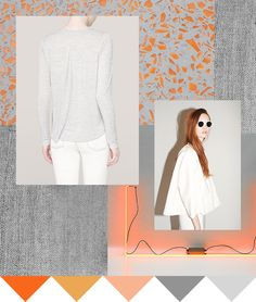 Printsource: Color | Sunset: Sherbet sunsets and cool shades of concrete create an urban palette. [orange, peach, gray]
