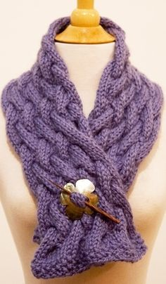 Washington Square Cabled Scarf: free pattern