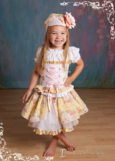 Custom Girls Peasant Dress 4 piece Set YOU Choose by customcutees, $125.00