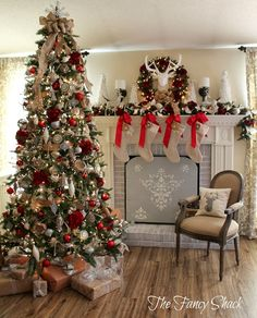 Neutral Christmas with Red