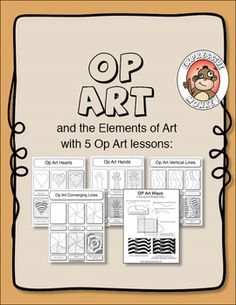 UPDATED!! OP ART AND THE ELEMENTS OF ART - TeachersPayTeachers.com