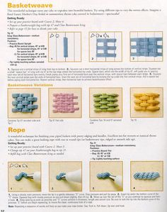 How to pipe basketweave and rope.