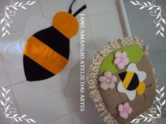 jogo de banheiro abelha