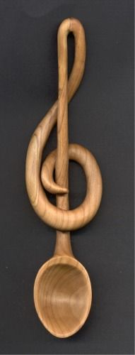Treble Clef Lovespoon by Ted Trott