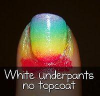 sponged gradient nails