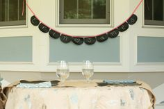 DIY Chalk Cloth Bunting #rustic #wedding  Perfect for #birthdayparties, #anniversaries or nurseries