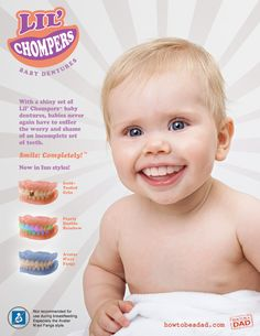 Little Chompers Baby Dentures from howtobeadad.com.