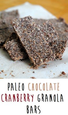 Paleo Chocolate Cranberry Bars