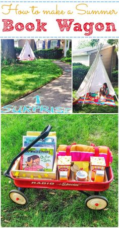 How to Make a Summer Book Wagon