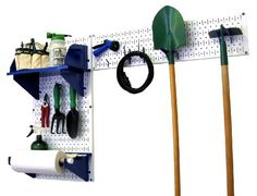 Wall Control Pegboard Garden Supplies Storage and Organization Garden Tool Organizer Kit with White Pegboard and Blue Accessories by Wall Control, http://www.amazon.com/dp/B00CIVH200/ref=cm_sw_r_pi_dp_gNoKrb0PFRNW1