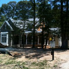 Elberton Way on home site 155 in Hawkseye (Lewes DE). Nearing completion!