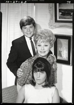 Lucille Ball and her children -1965  Desi Arnaz Jr and Lucie Arnaz