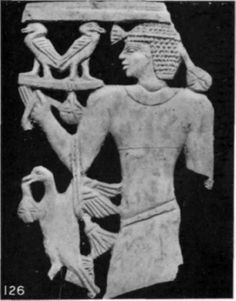 Bearer of offerings ivory relief
