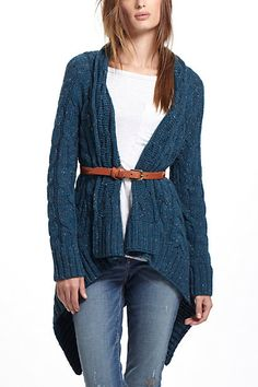 Variegations Cabled Sweater #anthropologie
