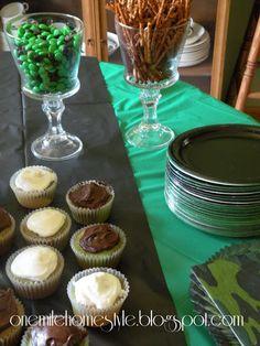 Camo theme birthday party