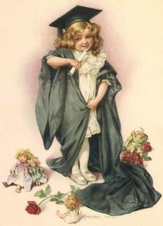 Little Vintage Graduation Girl ~ Maud Humphrey